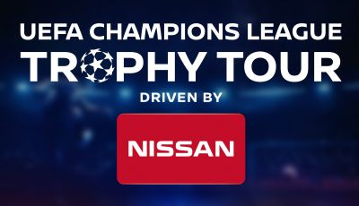 Nissan guida lo UEFA Champions League Trophy Tour