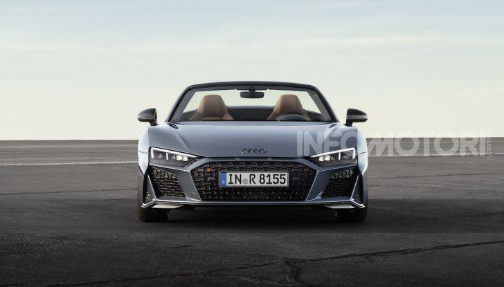 Nuova Audi R8 2019 Coupé e Spider: il V10 aspirato arriva a 620CV - Foto 18 di 30