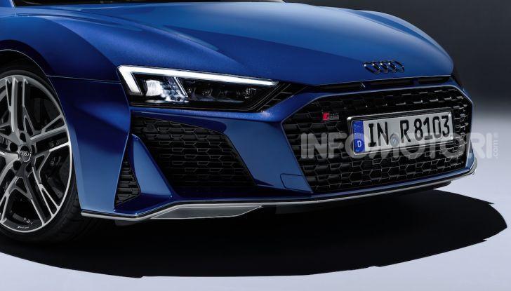 Nuova Audi R8 2019 Coupé e Spider: il V10 aspirato arriva a 620CV - Foto 21 di 30