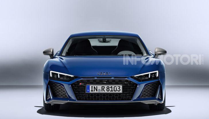 Nuova Audi R8 2019 Coupé e Spider: il V10 aspirato arriva a 620CV - Foto 22 di 30