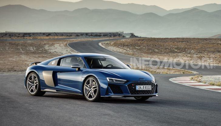 Nuova Audi R8 2019 Coupé e Spider: il V10 aspirato arriva a 620CV - Foto 1 di 30