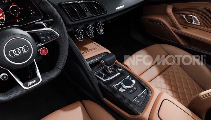 Nuova Audi R8 2019 Coupé e Spider: il V10 aspirato arriva a 620CV - Foto 10 di 30
