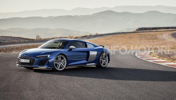 Nuova Audi R8 2019 Coupé e Spider: il V10 aspirato arriva a 620CV - Foto 4 di 30