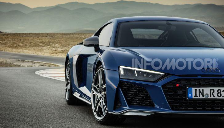 Nuova Audi R8 2019 Coupé e Spider: il V10 aspirato arriva a 620CV - Foto 27 di 30