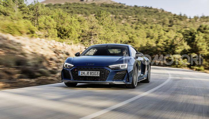 Nuova Audi R8 2019 Coupé e Spider: il V10 aspirato arriva a 620CV - Foto 6 di 30