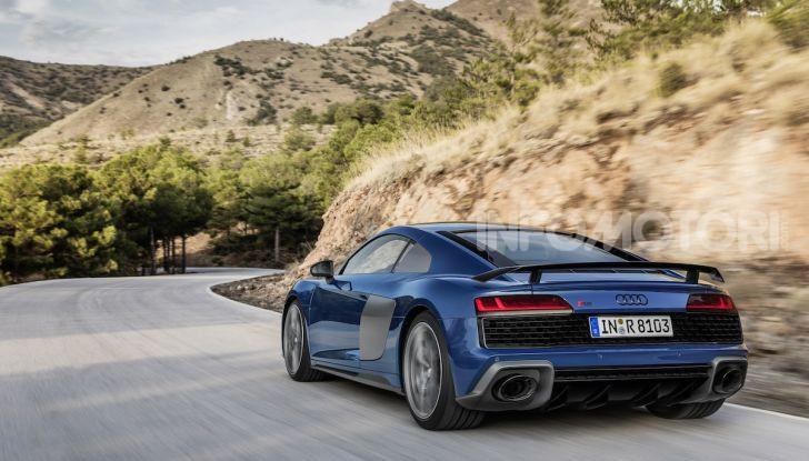 Nuova Audi R8 2019 Coupé e Spider: il V10 aspirato arriva a 620CV - Foto 30 di 30