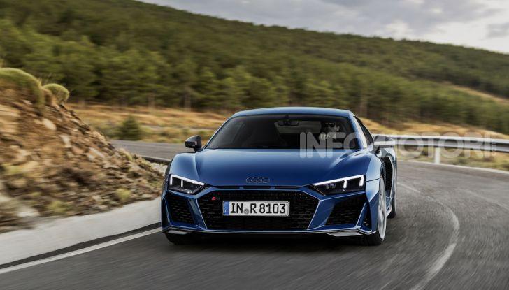 Nuova Audi R8 2019 Coupé e Spider: il V10 aspirato arriva a 620CV - Foto 5 di 30