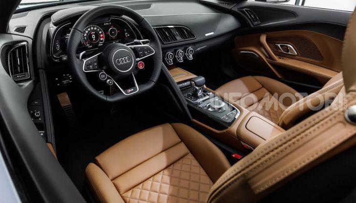 Nuova Audi R8 2019 Coupé e Spider: il V10 aspirato arriva a 620CV - Foto 11 di 30