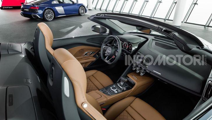 Nuova Audi R8 2019 Coupé e Spider: il V10 aspirato arriva a 620CV - Foto 12 di 30