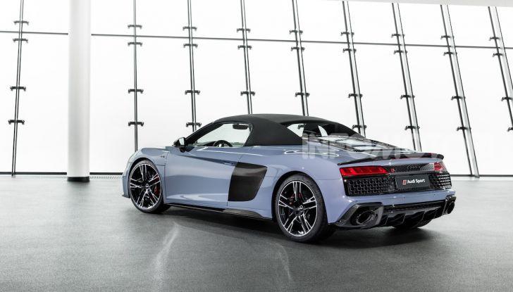 Nuova Audi R8 2019 Coupé e Spider: il V10 aspirato arriva a 620CV - Foto 14 di 30