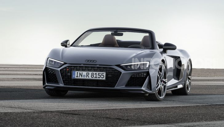 Nuova Audi R8 2019 Coupé e Spider: il V10 aspirato arriva a 620CV - Foto 17 di 30