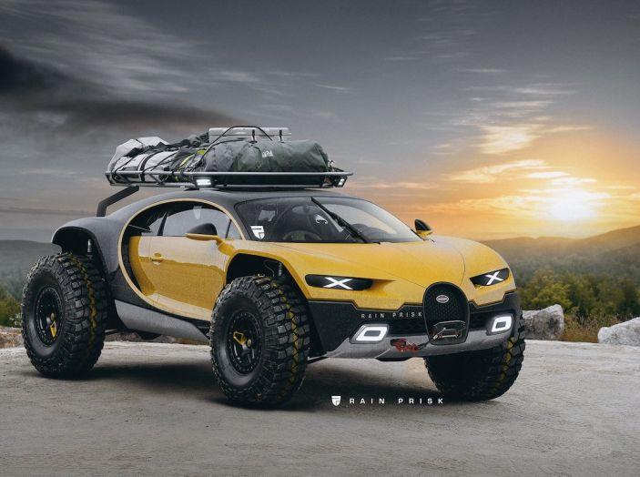 Bugatti Chiron Dakar: Rain Prisk sfida le leggi della fisica