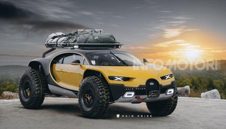 Bugatti Chiron Dakar: Rain Prisk sfida le leggi della fisica - Foto 1 di 9