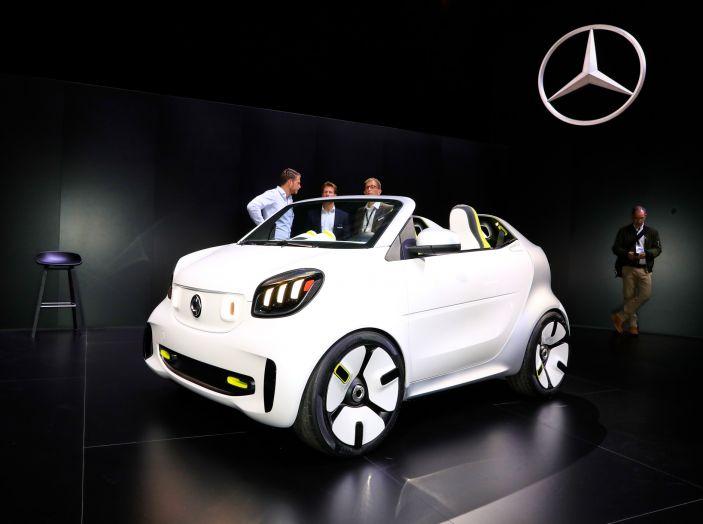 Smart forease, city car open air su base smart EQ fortwo cabrio