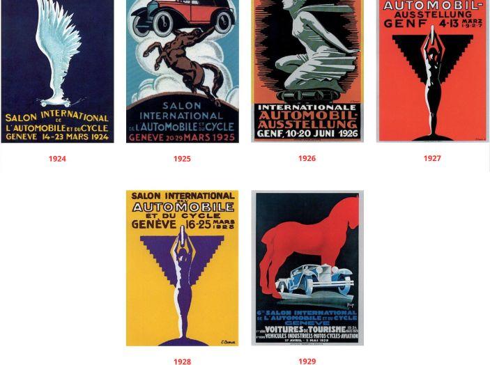 Le locandine del Salone di Ginevra dal 1924 ad oggi