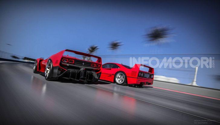 Ferrari F40 Tribute, omaggio all'icona di Maranello - Foto 16 di 16