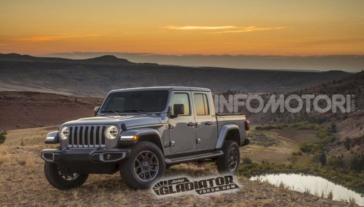 Jeep Gladiator, il primo pick-up di FCA presentato al Salone di Los Angeles - Foto 14 di 15
