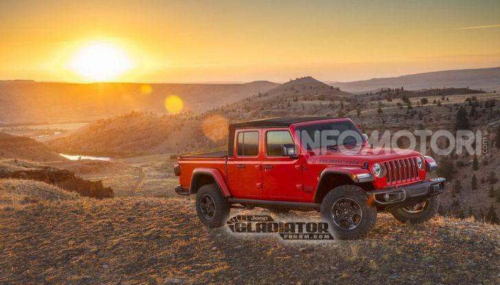 Jeep Gladiator, il primo pick-up di FCA presentato al Salone di Los Angeles - Foto 13 di 15