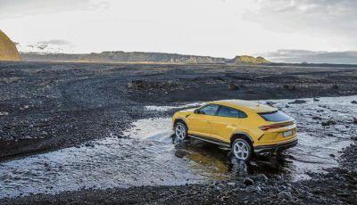 Lamborghini Urus provata su strada e fuoristrada in Islanda