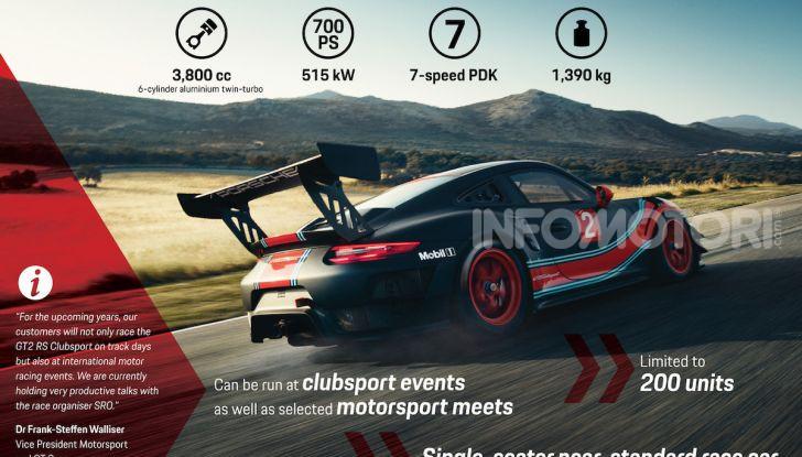 Porsche 911 GT2 RS Clubsport: la supercar da 710CV e 405.000€ - Foto 8 di 14