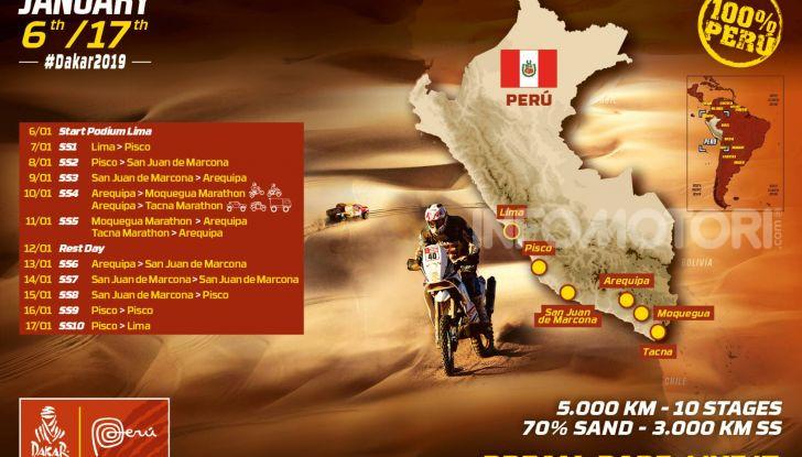 Dakar 2019 date, tappe, percorso e concorrenti - Foto 1 di 8