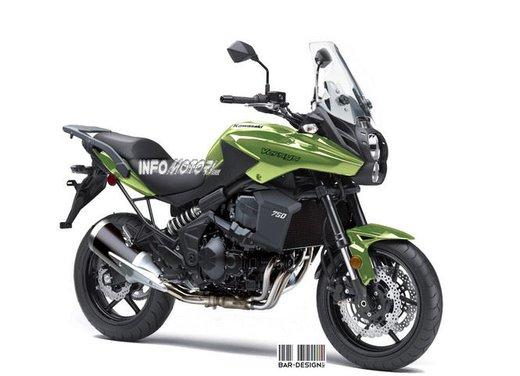 Kawasaki Versys 750: il rendering di Infomotori