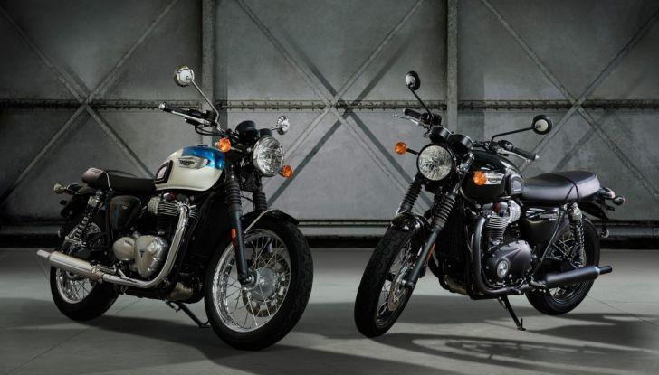 Triumph Bonneville T100 e T100 Black 2017 - Foto 1 di 11