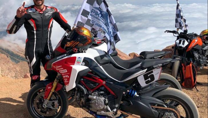 Ducati Multistrada 1260 trionfa alla Pikes Peak 2018 - Foto 1 di 8