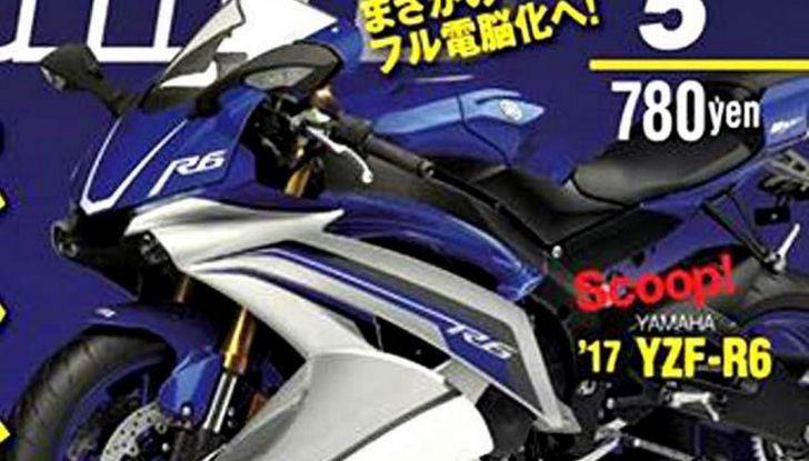 Yamaha YZF-R6 2017: Tutta sua madre, R1 2015 - Foto 1 di 6