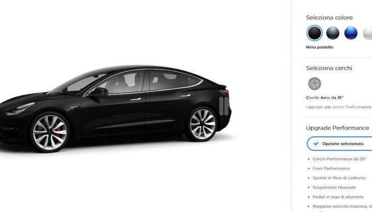 Tesla Model 3: Quanto costa, come ordinarla e quando arriva - Foto 4 di 23