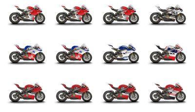 Le Ducati 12 Panigale V4 del WDW 2018 all'asta su eBay
