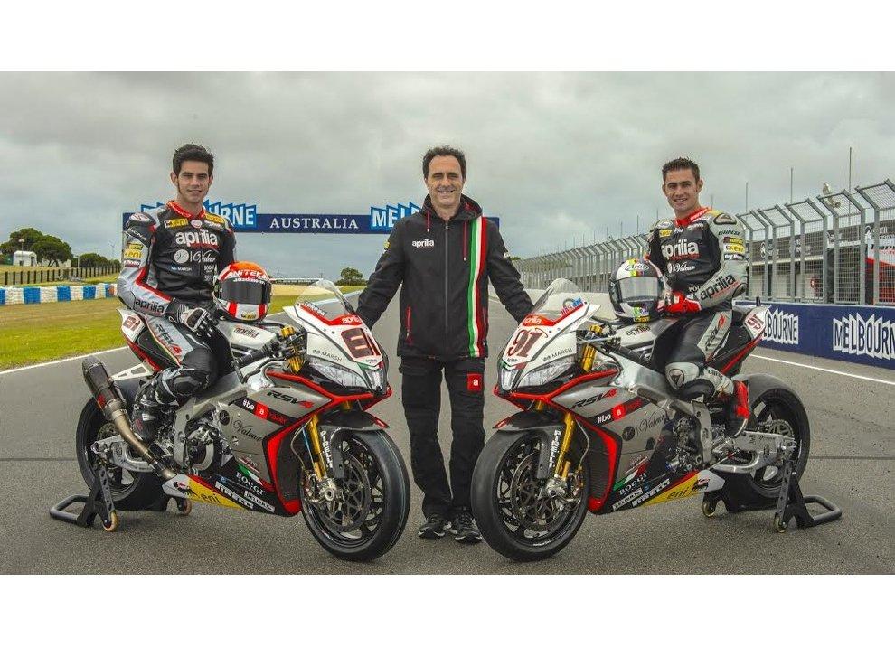 Aprilia presenta il team per il mondiale Superbike 2015