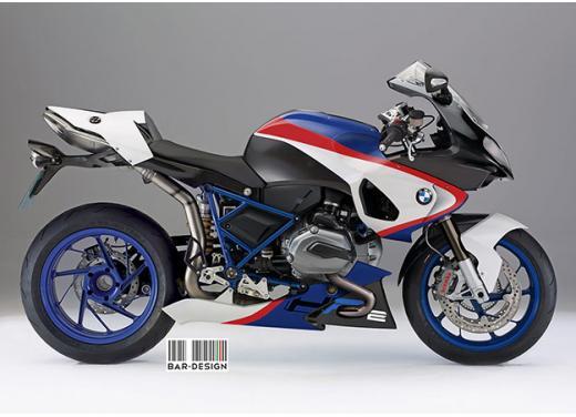 BMW HP2 m.y. 2014 rendering della versione standard e R - Foto 3 di 4