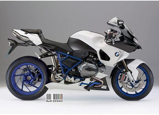 BMW HP2 m.y. 2014 rendering della versione standard e R - Foto 4 di 4