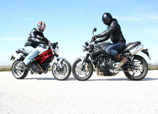 Ducati Monster 1100 vs Triumph Street Triple R