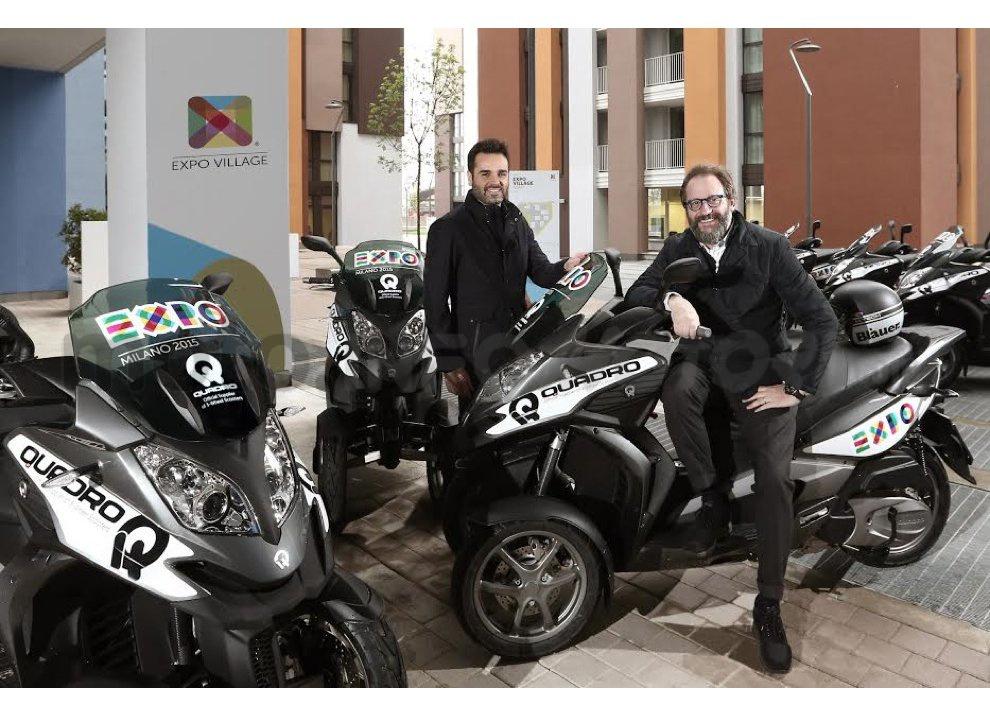 Expo Milano 2015: Quadro è fornitore ufficiale di scooter a tre ruote - Foto 1 di 7