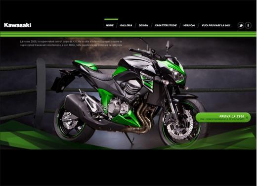 Kawasaki Z800: online il sito dedicato alla naked sportiva