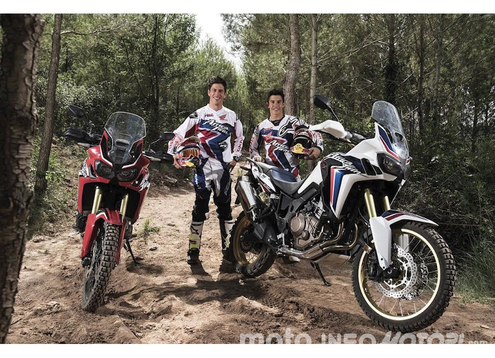 Marc Marquez e Joan Barreda sulla nuova Honda CRF 1000L Africa Twin, video - Foto 2 di 5