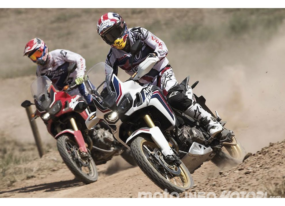 Marc Marquez e Joan Barreda sulla nuova Honda CRF 1000L Africa Twin, video - Foto 5 di 5
