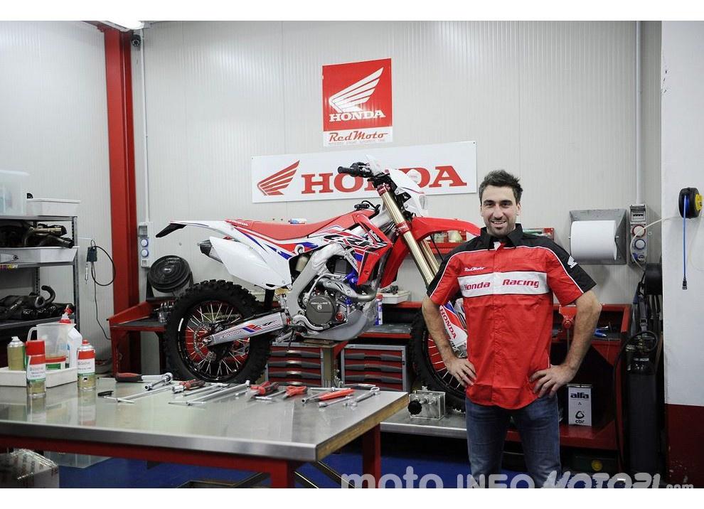 Oscar Balletti costretto a rinviare l'inizio di stagione con Honda RedMoto World Enduro Team