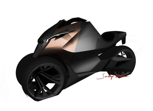 Peugeot supertrike Onyx Concept Scooter - Foto 19 di 21