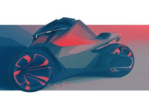 Peugeot supertrike Onyx Concept Scooter - Foto 21 di 21