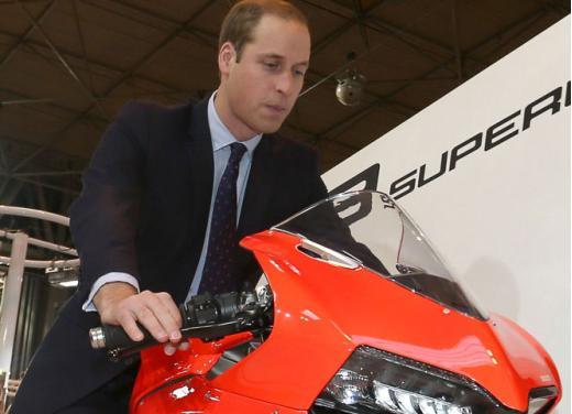 Principe William alla presentazione del nuovo Ducati Monster 1200 e del Ducati Diavel