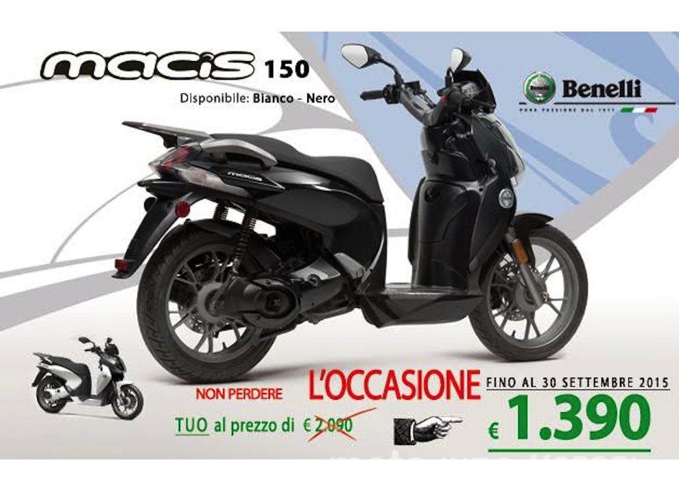 Promozione sugli scooter Benelli ZenZero 350 e Macis 150