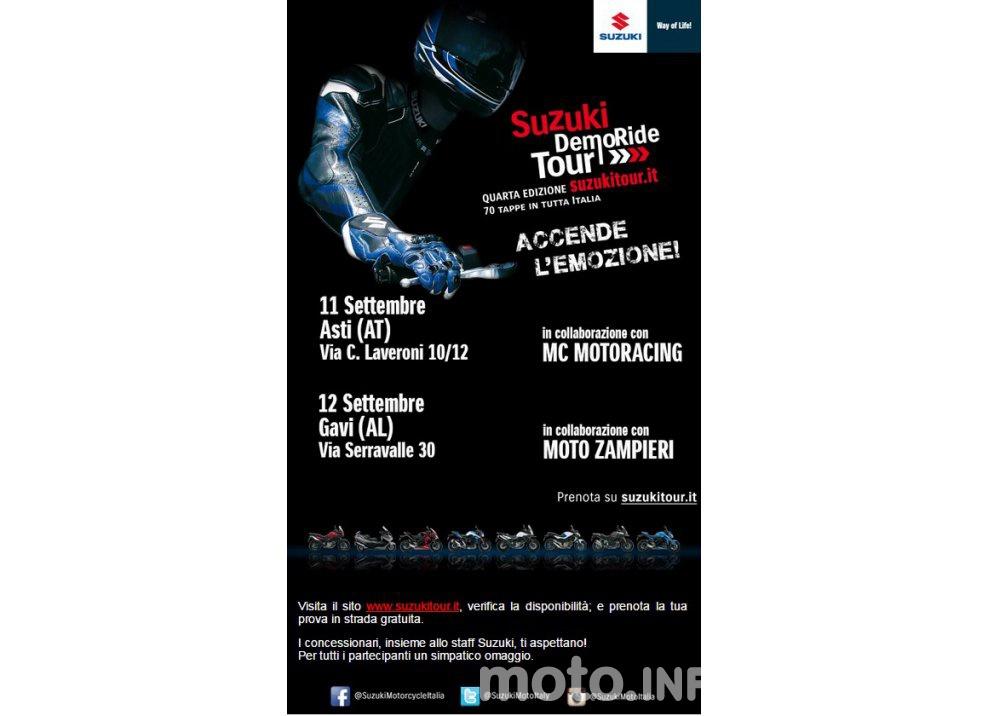 Suzuki, continuano i Demo Ride Tour dal Piemonte alla Sicilia - Foto 10 di 11
