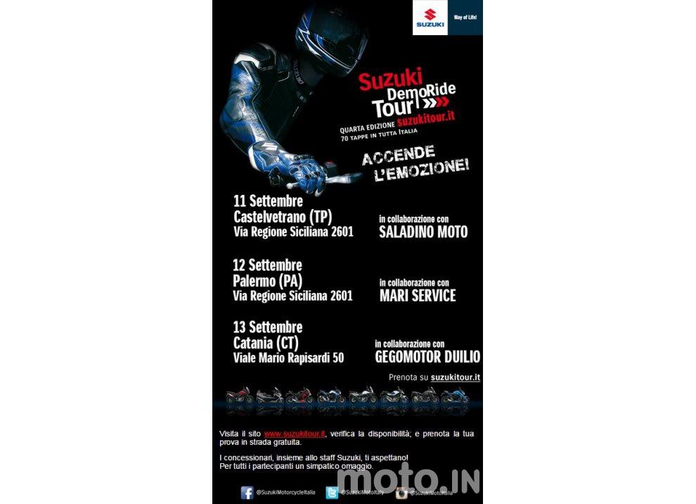 Suzuki, continuano i Demo Ride Tour dal Piemonte alla Sicilia - Foto 11 di 11
