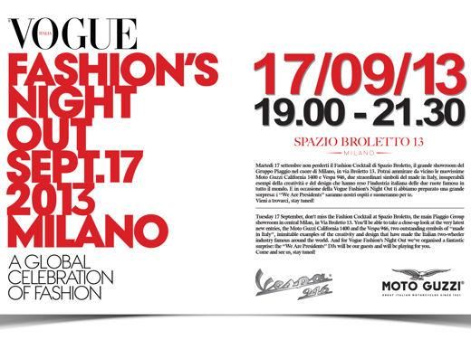 Vespa e Moto Guzzi alla Vogue Fashion's Night Out di Milano - Foto 3 di 3