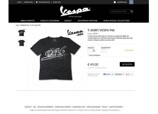 Vespa.com, lo store online dedicato al mitico scooter Piaggio