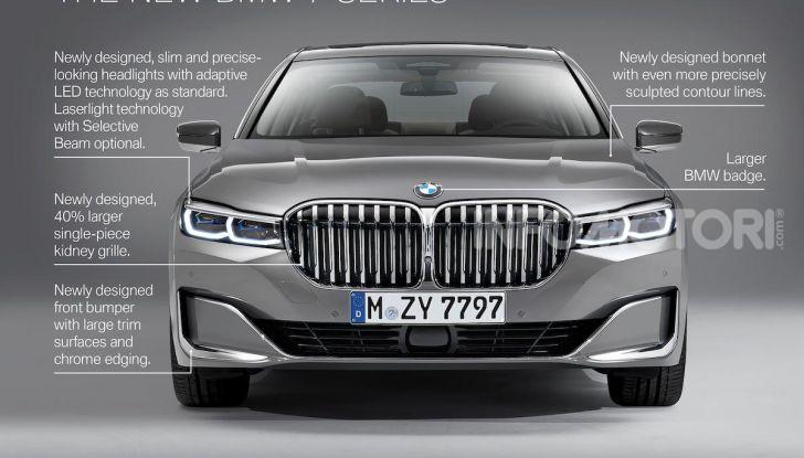 Nuova BMW Serie 7 2019: un restyling imperioso per l'ammiraglia tedesca - Foto 11 di 21