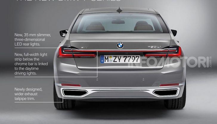 Nuova BMW Serie 7 2019: un restyling imperioso per l'ammiraglia tedesca - Foto 12 di 21